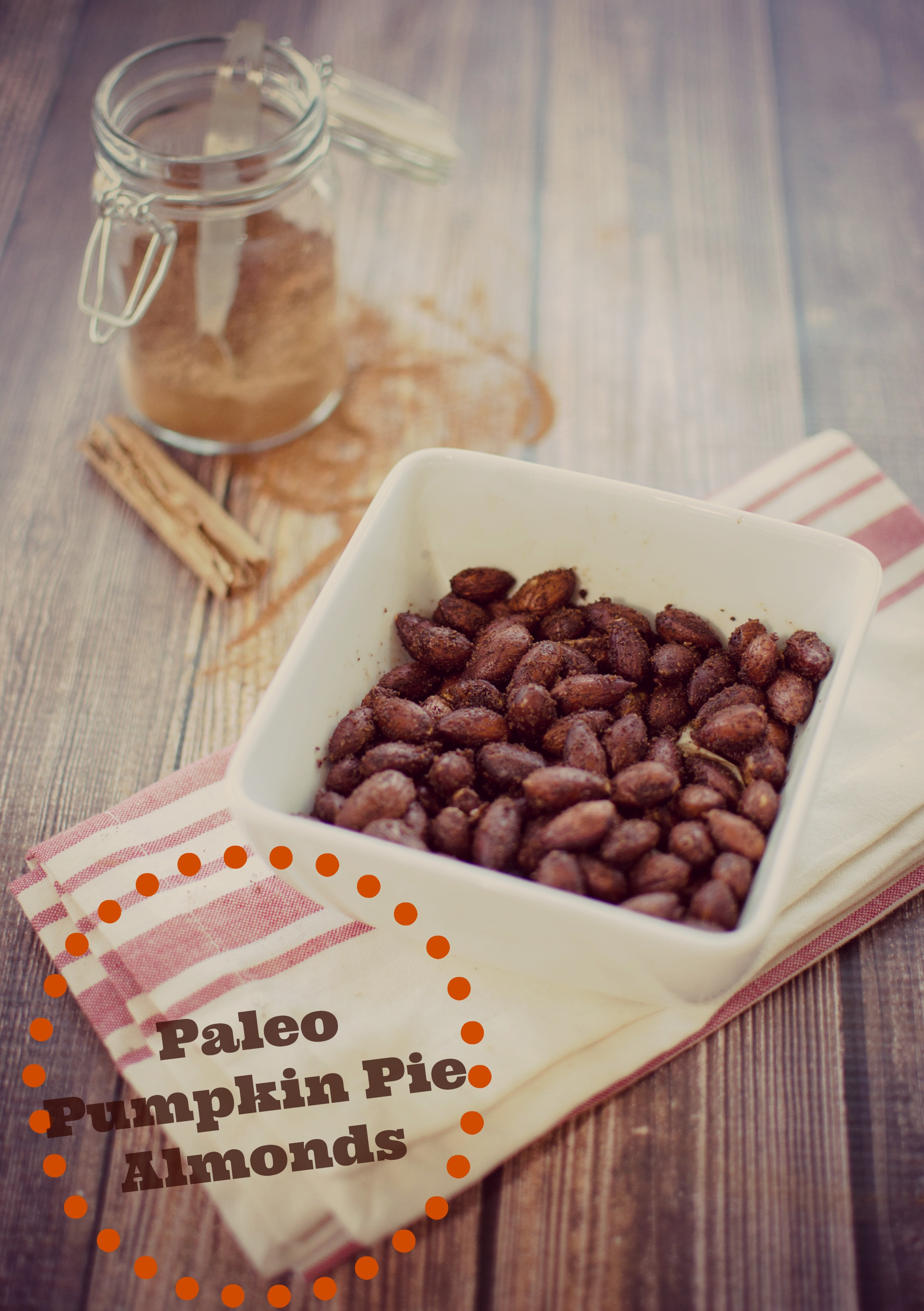 Paleo Pumpkin Spiced Almonds