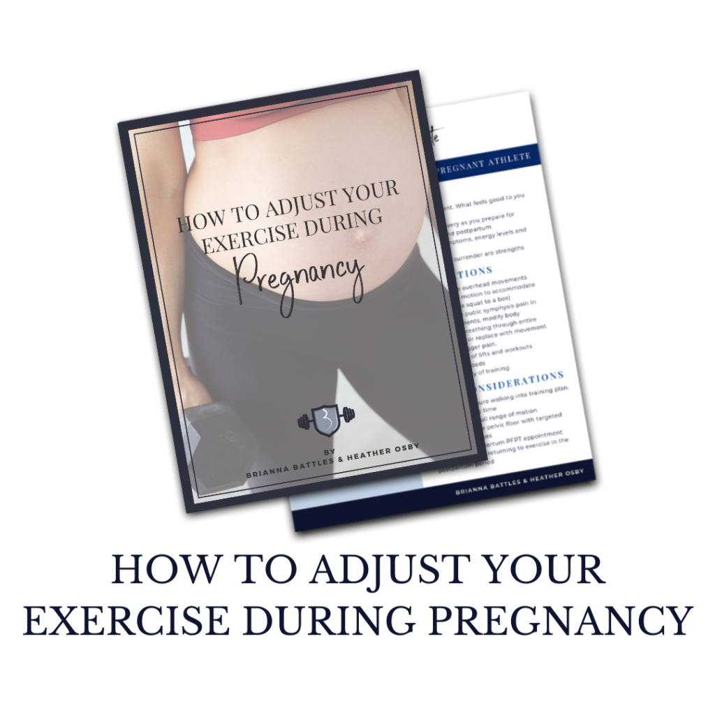 Adjust exercise during pregnancy